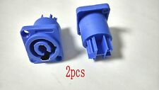2pcs blue Neutrik PowerCON Mains Input Chassis Connector NAC3MPA-1 Type adapter