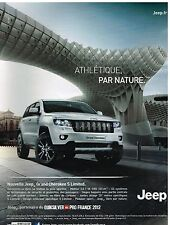 Publicité Advertising 2012 Nouvelle Jeep Grand Cherokee S Limited