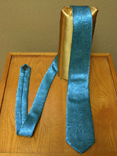 Turquoise Blue Paisley Necktie Mens Suit Wedding Prom Groom Steampunk Neck tie