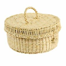 Round Storage Box With Lid Seagrass Wicker basket