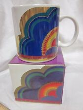 LAUREL BURCH Large Coffee Mug MG525 W Box Japan Plum Blossom Purple Red Gold