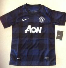 Nike Boys Manchester United Short Sleeve Away Replica Jersey Navy Blue MED NEW