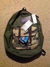 New Jansport All Purpose Backpack. Breakster Olive/ Beige Camo.  1739 Cu In.