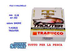 FILO  TROUTER TRABUCCO 0,18 MT 150  x MULINELLO pesca trota