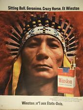 PUBLICITÉ 1972 WINSTON SITTING BULL GERONIMO CRAZY HORSE - ADVERTISING