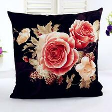 Flower Printing Dyeing Peony Sofa Car Bed Home Decor Pillow Case Cushion Cover S