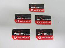 Lot of 5 VERIZON WIRELESS Vodafone Global World SIM CARD 3G