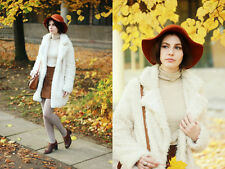 Zara Ecru White Soft Faux Fur Coat Size XS UK 8-10