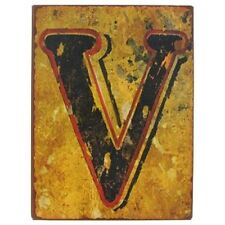 "9 1/2"" Rustic Iron Wall Letter - V. Rustic Vintage  Charm decor sign. Beautiful"