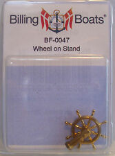 Billing Boats Accessory BF-0047 - 1 x 25mm Brass Ships Wheel on Stand New Pack