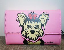 Marc Tetro Yorkie Coin Wallet Pink money purse for dog lovers New with tags