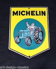Michelin Männchen Bibendum - 15x11cm - Emailschild -Traktor - Schild - Türschild