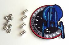 Star Trek Enterprise Rank Pip Pin Set of 4 (Captain) & Iron-On Shoulder Patch