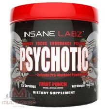 Insane Labz PSYCHOTIC 216g - Stärkste USA Pre Workout Pump Booster Muskelaufbau