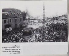 1991  -  MULHOUSE INCENDIE SOCIETE ALSACIENNE CONSTRUCTION MECANIQUE 4 MAI 1899