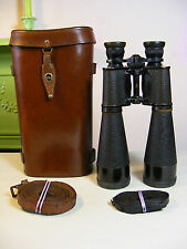 "Huet ""Telescop"" French 20 x 50 Observation Binoculars and Case 1919"