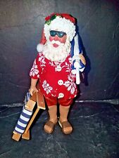 CLOTHTIQUE by POSSIBLE DREAMS 2001..SANTA IS GOING TO THE BEACH