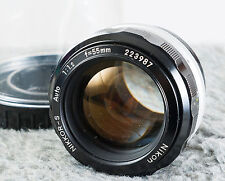 Nikon Nikkor-S 55mm F1.2 F Mount Fast Prime Lens!   Nice!  Tested/Guaranteed