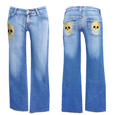 NEW zona JEANS TOP + +w29-gr. 38 + + TOP JEANS TOP + Golden Skull Bootcut Jeans