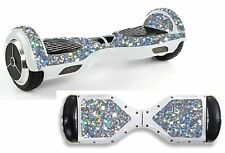 Argento Paillettes adesivo / Pelle Hoverboard / BALANCE BOARD hov45