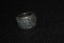 SILPADA - R1583 - Engraved Oxidized Sterling Silver Floral Ring Sz 8 - HTF RARE!