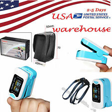 US Finger Fingertip Blood Oxygen Meter SPO2 OLED Pulse Heart Rate Monitor,Blue