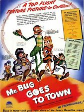 MR. BUG GOES TO TOWN 1941 Dave Fleischer U.S. TRADE ADVERT
