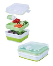 Cool Gear Salad-To-Go Container Set Collapsible Storage Keep cool Lunchbox Lid