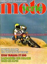 MOTO VERTE  44 Essai de la YAMAHA XT 500 Enduro ; SWM 320 TL ; Salon Moto 1977