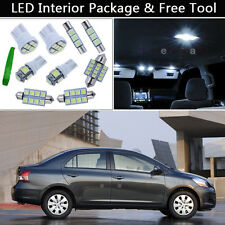 6PCS Xenon White LED Interior Car Lights Package kit Fit 07-2011 Toyota Yaris J1