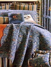 WAKEFIELD BLUE * King * QUILT : WILLIAMSBURG COTTAGE INDIGO FLORAL COMFORTER