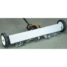 "30"" Magnetic Sweeper With Wheels & 50 LB Pull pick up nails screws other metal!"