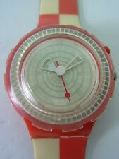 SDR900 Swatch - 1999 Scuba Table Cloths Loomi Red White Swiss Made Authentic