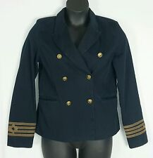 DENIM SUPPLY RALPH LAUREN NAVY BLUE MILITARY DOUBLE BREASTED JACKET SZ LARGE NWT