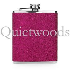 Hot Pink Glitter Bling Stainless Steel Hip Drinking Liquor Flask 7oz