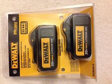 New 2016 Dewalt 20V Max DCB200-2 3.0Ah Lithium Ion Batteries Li-ion DCB200
