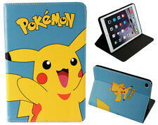 For Apple iPad Air 1-2 (Ipad 5-6) Happy Pokemon Pikachu Stand Case Cover