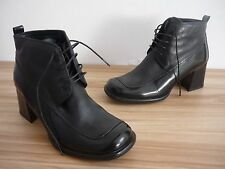 Quality Vintage Black Leather Gino Ventori Ankle Boots Size 36 / 3