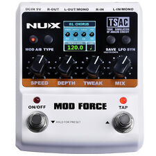 Nux Mod Force Multi-Modulation Stereo True Bypass Guitar Effects Pedal Stompbox