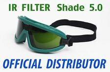 NEW Gateway Wheelz  45566 Green Ir Filter Shade 5.0 Lens  Safety Glasses Goggle