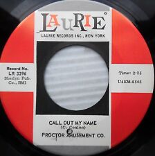 PROCTOR AMUSEMENT CO call out my name Heard you went away 67 PSYCH GARAGE e6686