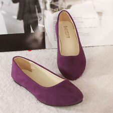 New Women's Suede Boat Shoes Casual Slip On Flats Loafers Ballerina Ballet Shoes