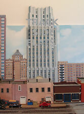#117 HO scale background building flat FIRST NATIONAL TOWER   FREE SHIPPING