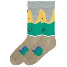 Trouser Crew Socks Wide Mouth Bite Mallard Duck NWT Men's Size 10-13 K BELL