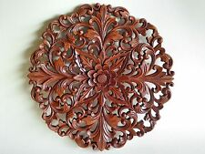 Beautiful Ornate Balinese Hand Made Wooden Carved Wall Plaque 40cm.......