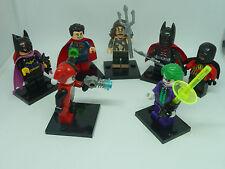 DC: Justice League, Batman, Superman, Joker, Batgirl, Aquaman, Robin, lego óptica,! nuevo!
