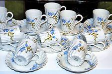 SERVICE A CAFE 12 tasses et soucoupePORCELAINE  LIMOGES HAVILAND TORSADE 19 EME