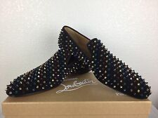 NEW Mens Christian Louboutin Dandelion Spikes Flat Size 44