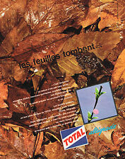 PUBLICITE ADVERTISING   1962   TOTAL  les feuilles tombent huile