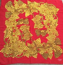 CHANEL Paris Sunflowers 100% Silk Scarf  Gold Red 34 x 34